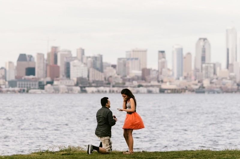 Image 4 of Nick and Jenny's Surprise Marriage Proposal in Seattle