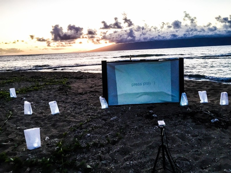 Same Sex Surprise Marriage Proposal at Sunset in Maui Hawaii (10) (800x600)
