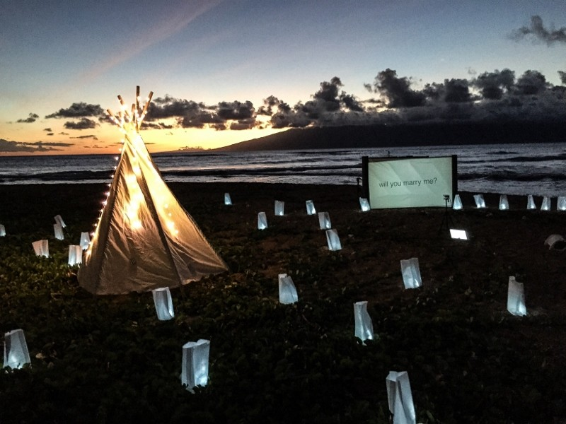 Same Sex Surprise Marriage Proposal at Sunset in Maui Hawaii (15) (800x600)