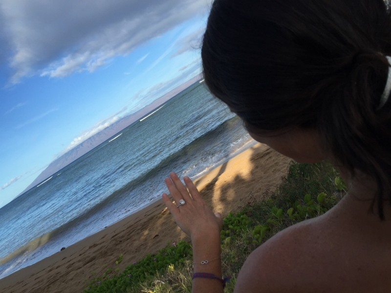 Image 16 of HOW SHE ASKED: Nicole and Emily's Sunset Surprise Marriage Proposal in Maui