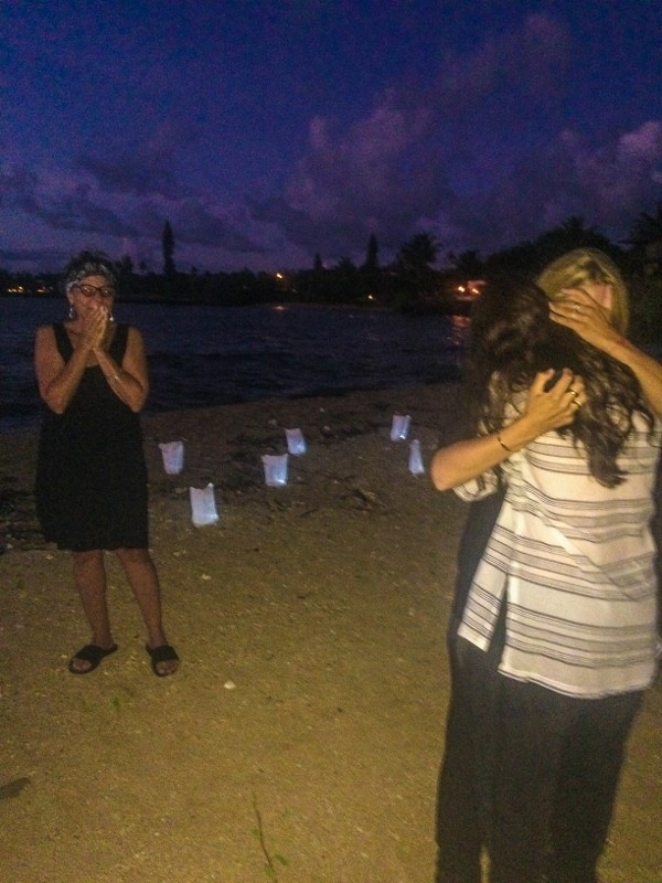 Same Sex Surprise Marriage Proposal at Sunset in Maui Hawaii (2) (600x800)