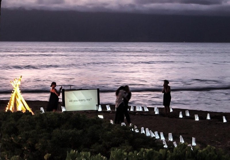 Image 14 of HOW SHE ASKED: Nicole and Emily's Sunset Surprise Marriage Proposal in Maui