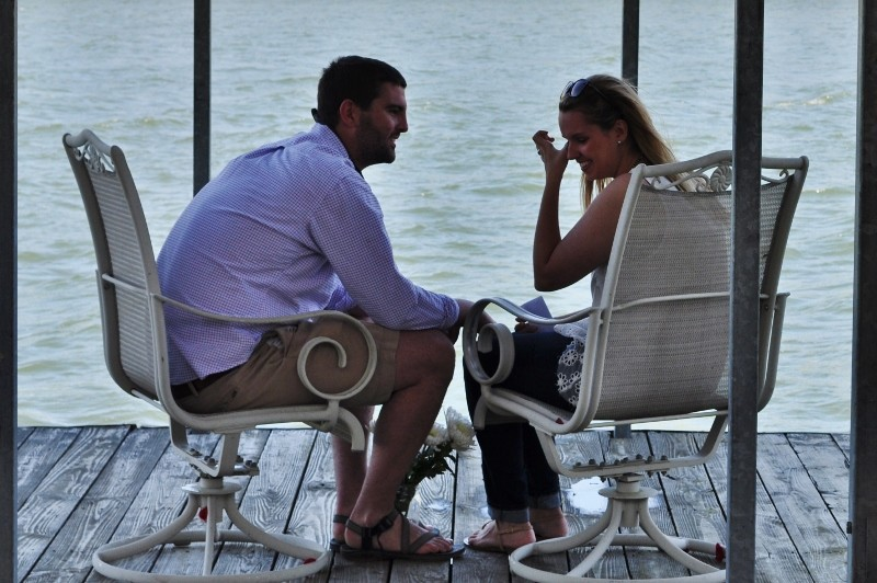 Sarah and Chris Surprise Marriage Proposal on Dock (1) (800x532)