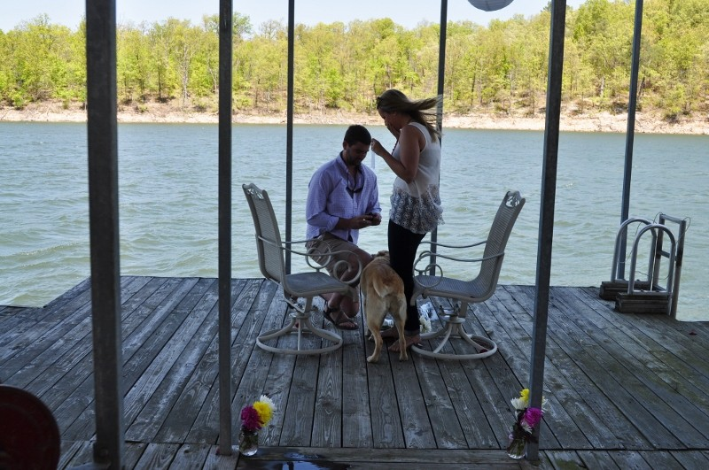 Sarah and Chris Surprise Marriage Proposal on Dock (3) (800x531)