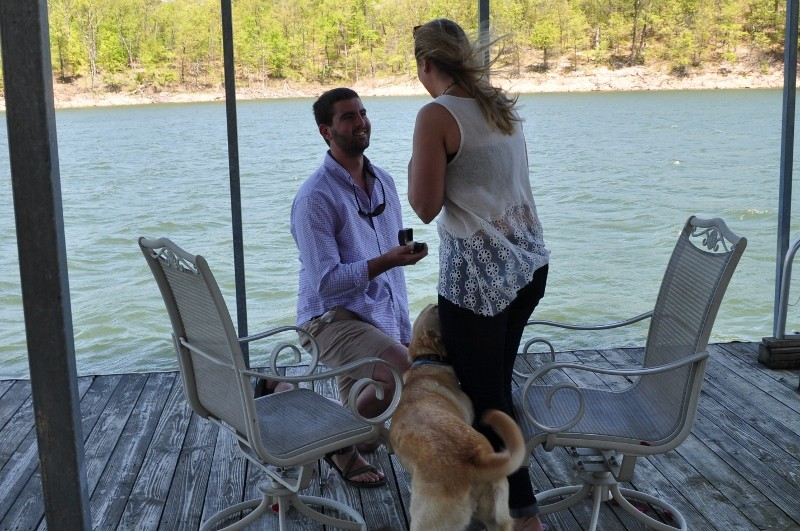 Sarah and Chris Surprise Marriage Proposal on Dock (4) (800x531)
