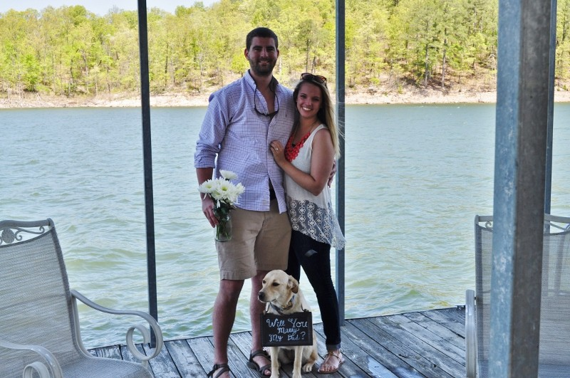 Sarah and Chris Surprise Marriage Proposal on Dock (5) (800x531)
