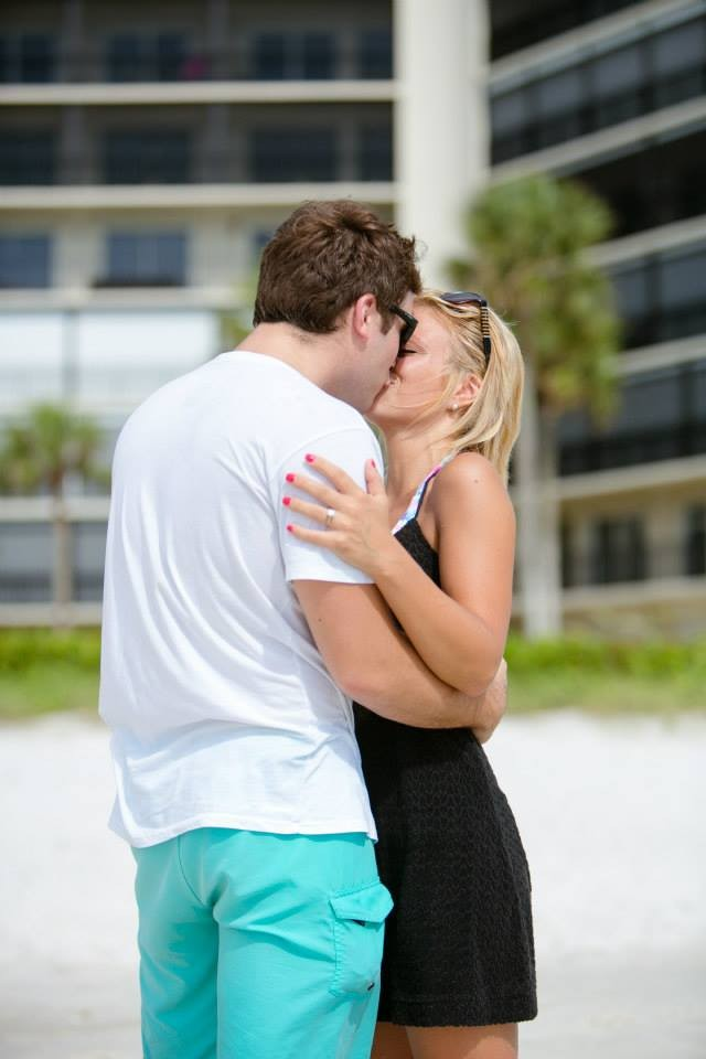Image 6 of Christy and Benjamin's Beach Proposal in South Florida