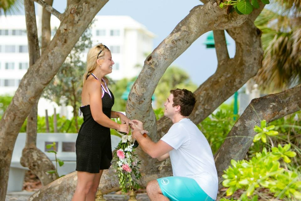 Image 2 of Christy and Benjamin's Beach Proposal in South Florida