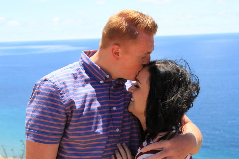 Image 1 of Madison and Tanner's Surprise Proposal at the Beach