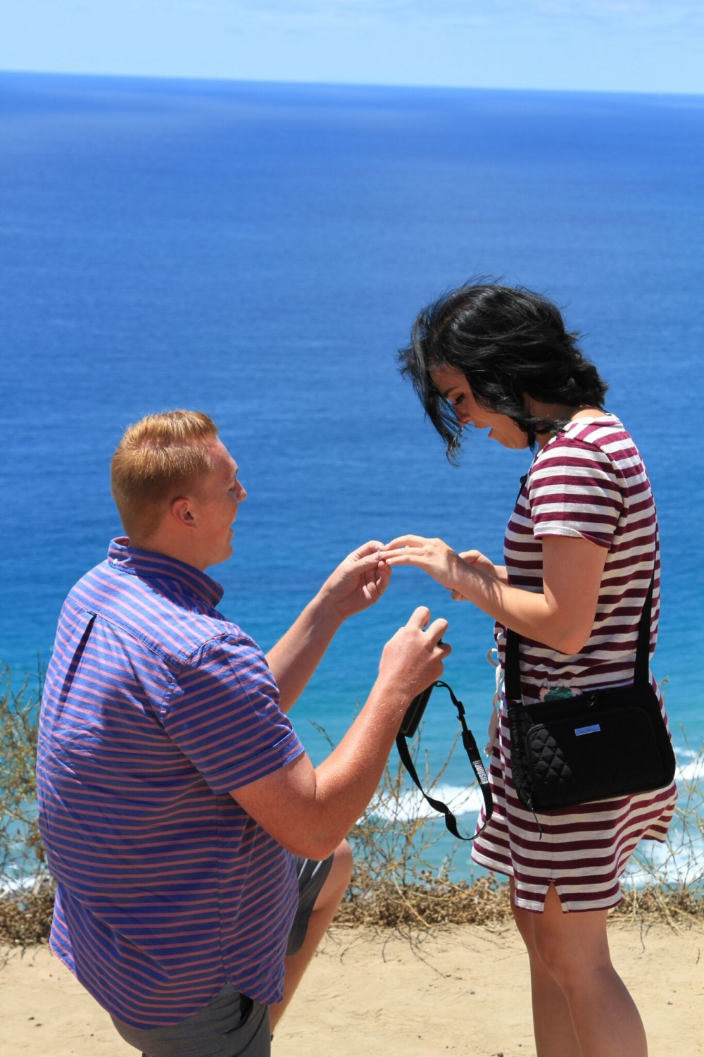Image 7 of Madison and Tanner's Surprise Proposal at the Beach