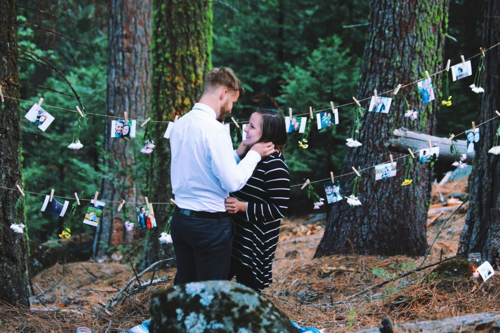 Image 3 of Lana and Nate's Picture Perfect Proposal in Sierra National Forest