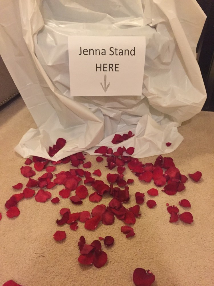 Bride's Proposal in At our home