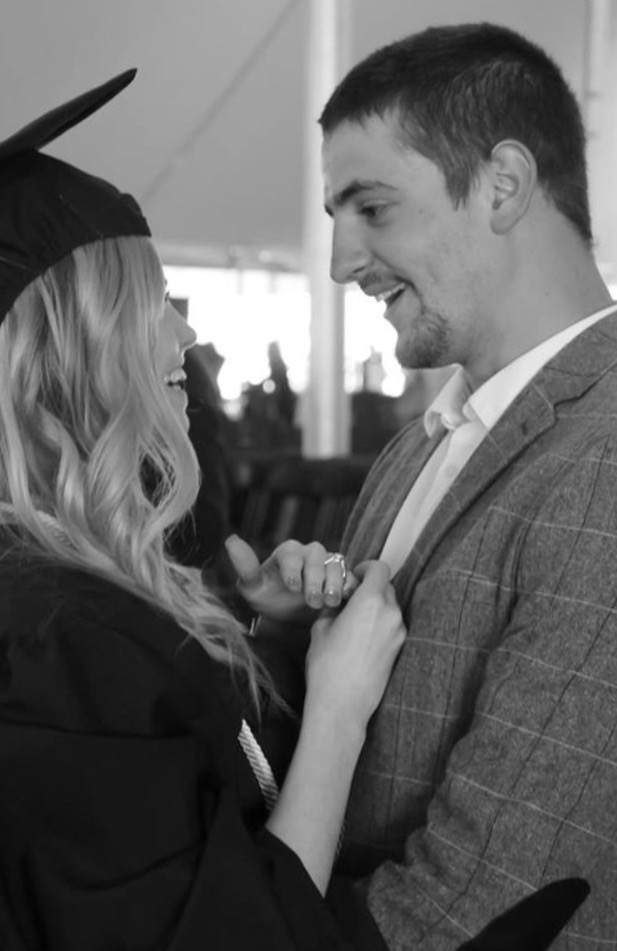 Image 1 of Ashley and Josh's Proposal at Bridge State University Graduation