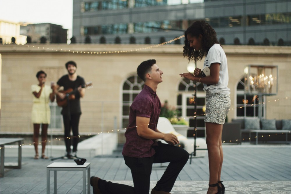 Image 2 of Shannon and Spencer's Dallas Rooftop Proposal