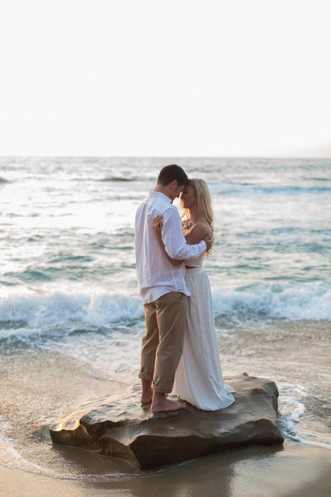 Image 1 of Peyton and TJ's Unreal Proposal at La Jolla Cove