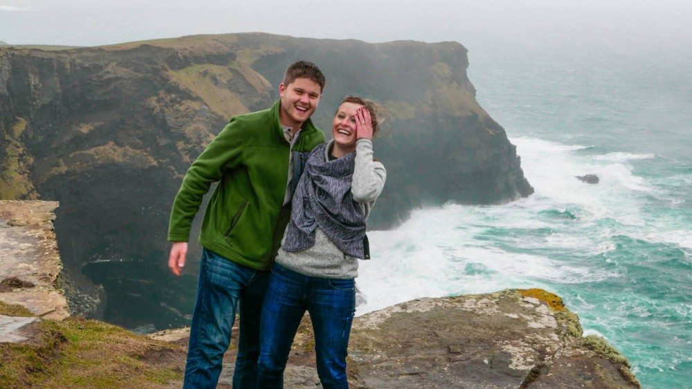 Image 2 of Maggie and Joshua's Marriage Proposal at the Cliffs of Moher