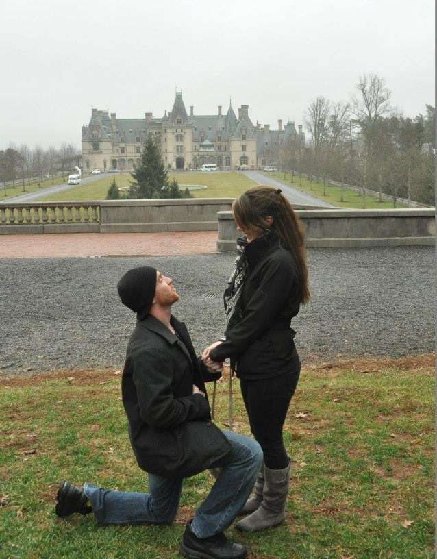 Bride's Proposal in The Biltmore, Asheville, NC