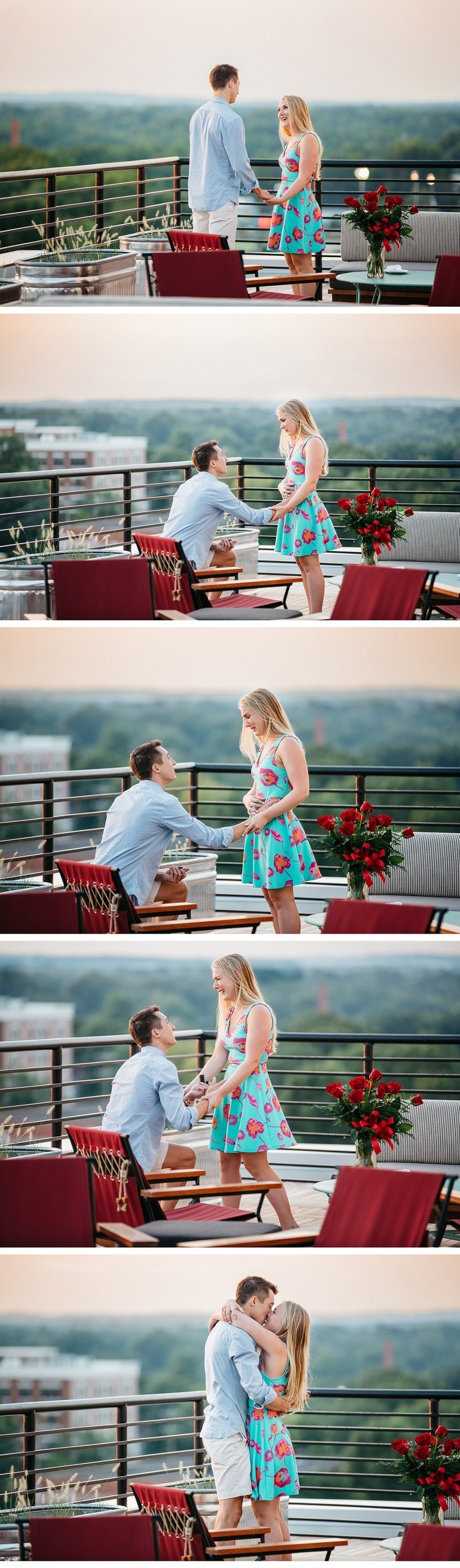 Image 3 of Surprise Rooftop Marriage Proposal in Durham, North Carolina
