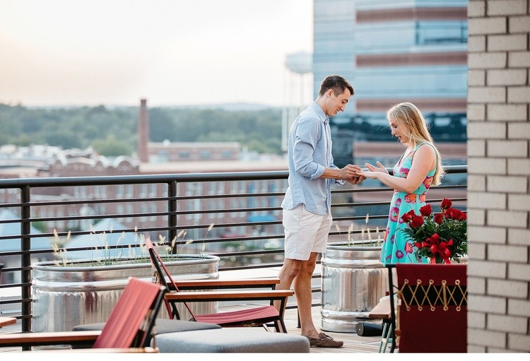 Image 6 of Surprise Rooftop Marriage Proposal in Durham, North Carolina