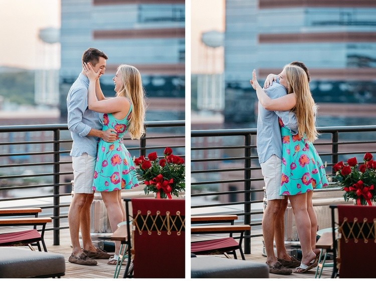 Image 4 of Surprise Rooftop Marriage Proposal in Durham, North Carolina