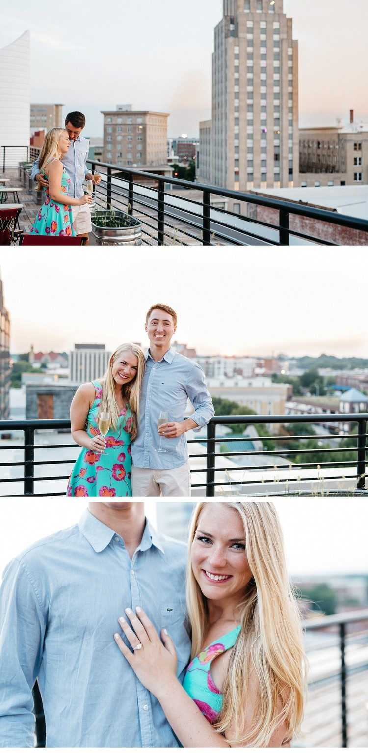 Image 7 of Surprise Rooftop Marriage Proposal in Durham, North Carolina