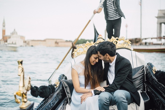 Image 1 of Jes and Nihal's Venice Gondola Proposal