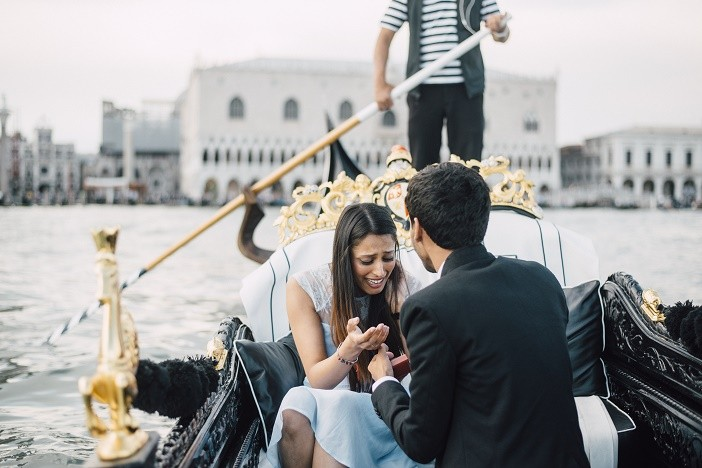 Image 7 of Jes and Nihal's Venice Gondola Proposal