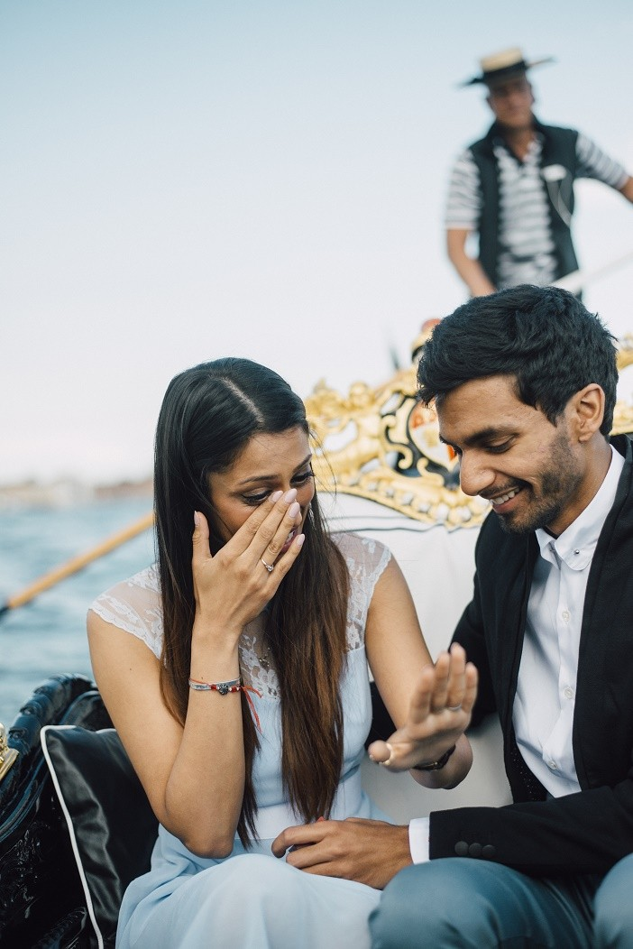 Image 11 of Jes and Nihal's Venice Gondola Proposal