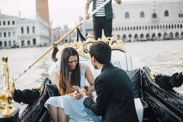 Image 8 of Jes and Nihal's Venice Gondola Proposal