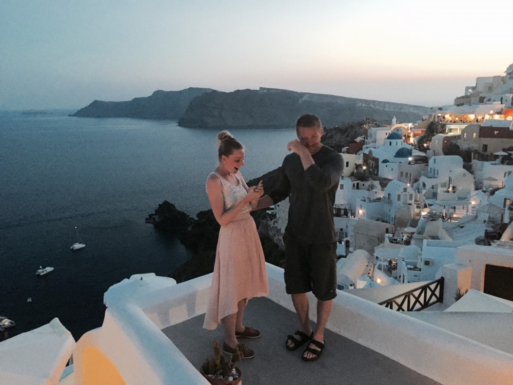 Gorgeous Proposal Video Santorini