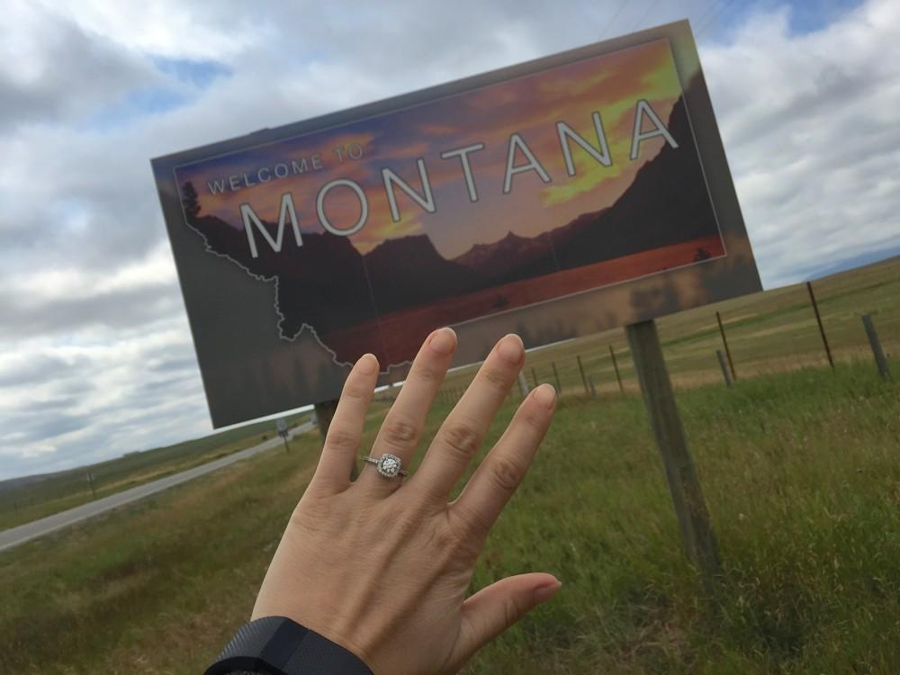 Image 1 of Candace and Chris' Montana Proposal