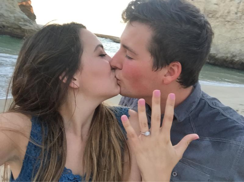 Bride and Groom's Engagement in santa cruz, ca
