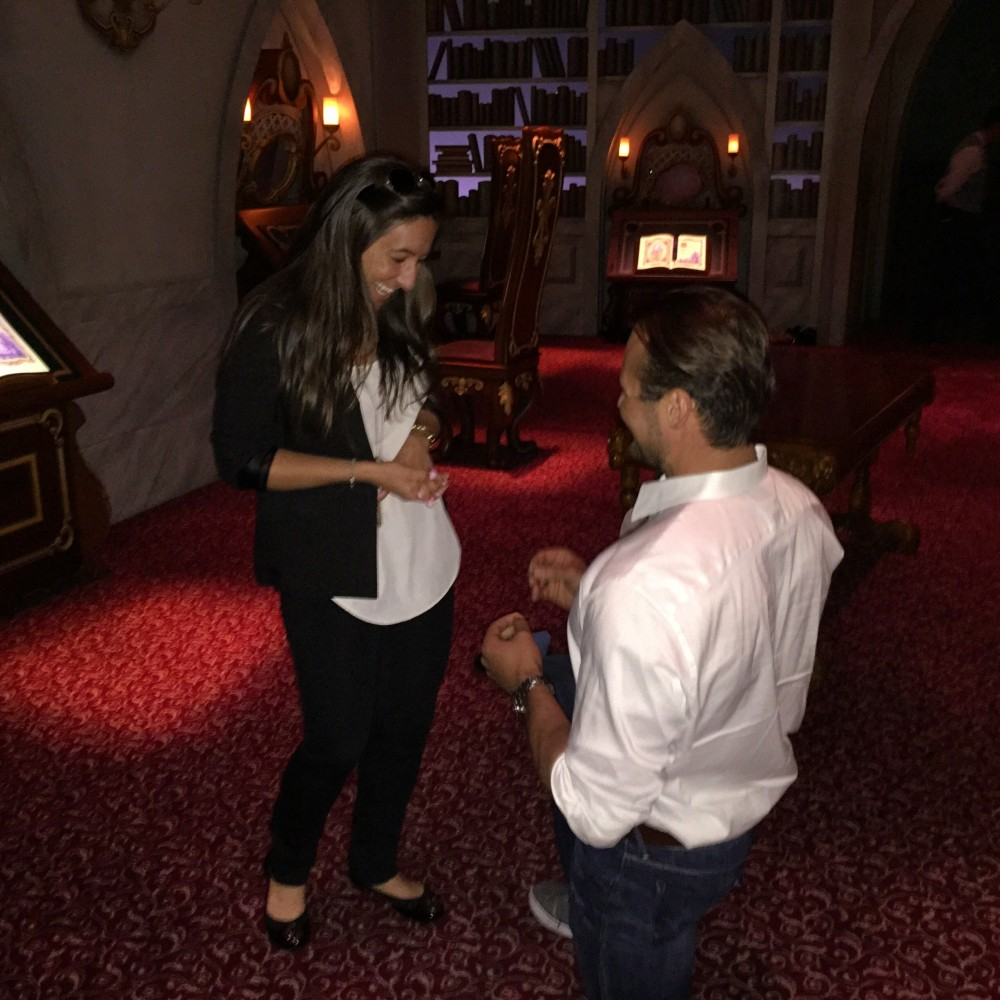 Beauty and The Beast Proposal at Disney
