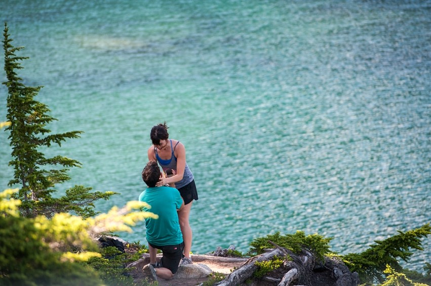 Image 7 of Liz and Ed's Amazing Proposal at Labyrinth Mountain, Washington