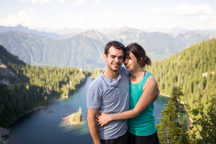 Image 2 of Liz and Ed's Amazing Proposal at Labyrinth Mountain, Washington