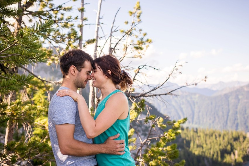 Image 13 of Liz and Ed's Amazing Proposal at Labyrinth Mountain, Washington