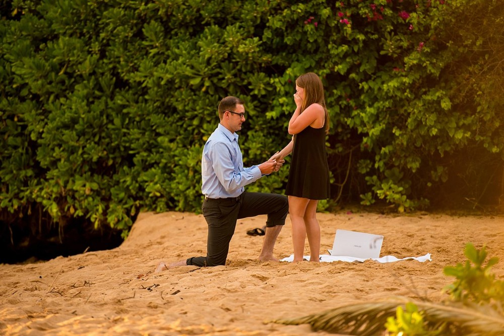 Image 8 of Mackenzie and Josh's Sunset Proposal in Maui
