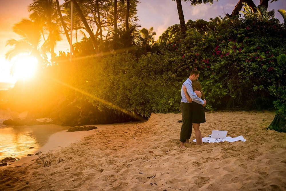 Image 10 of Mackenzie and Josh's Sunset Proposal in Maui