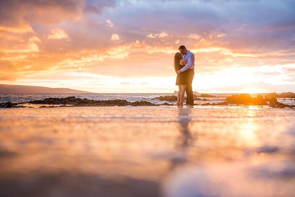 Image 1 of Mackenzie and Josh's Sunset Proposal in Maui