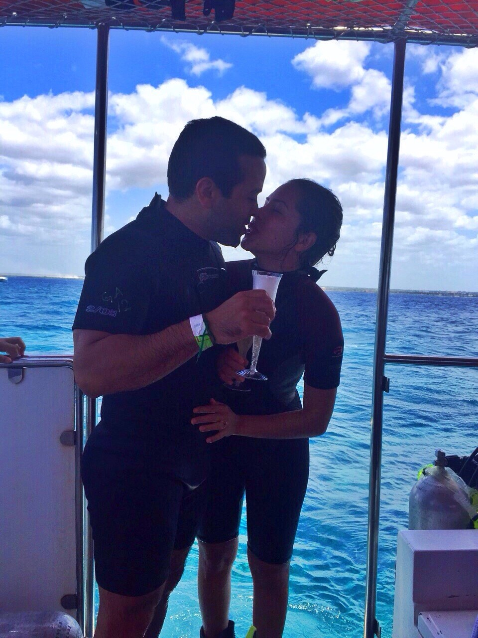 Image 1 of Patricia and Enmanuel's Scuba Diving Proposal