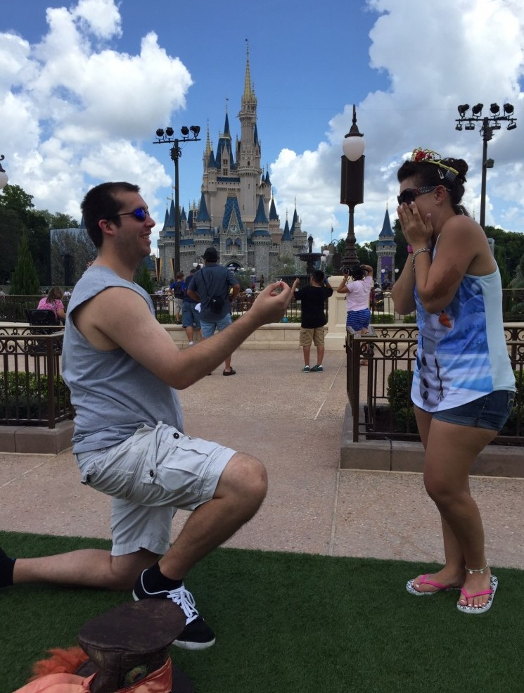 Image 1 of Nicole and Nick's Marriage Proposal at Cinderella's Castle