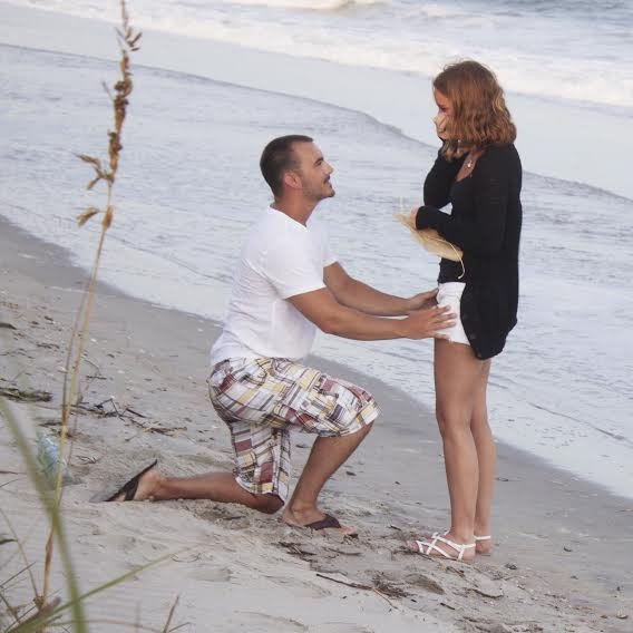 Image 1 of Brittany and Michael's Marriage Proposal on Holden Beach
