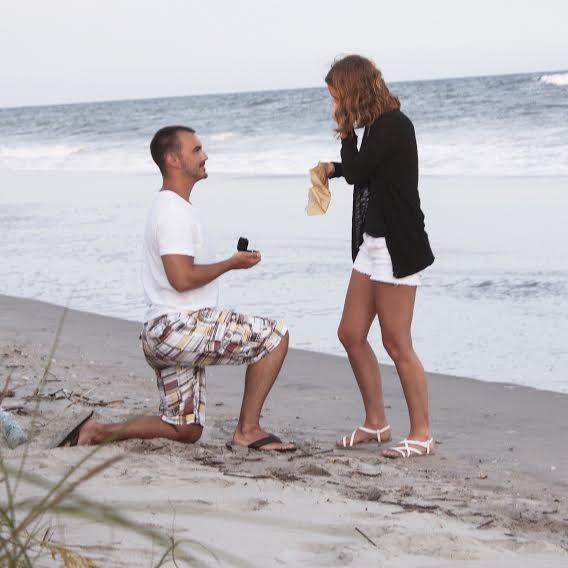 Image 2 of Brittany and Michael's Marriage Proposal on Holden Beach