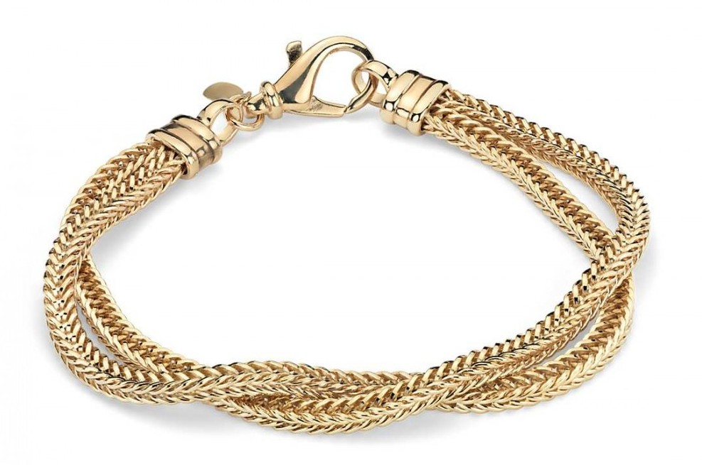 two row gold bracelet