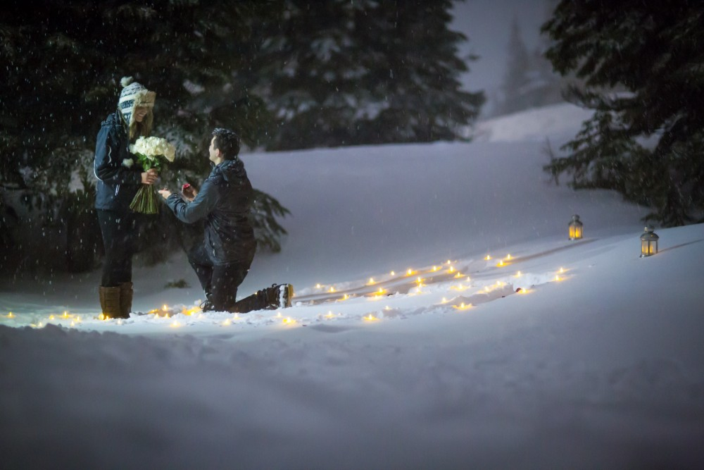 Image 3 of Susie and Daniel's Magical Proposal in the Snow