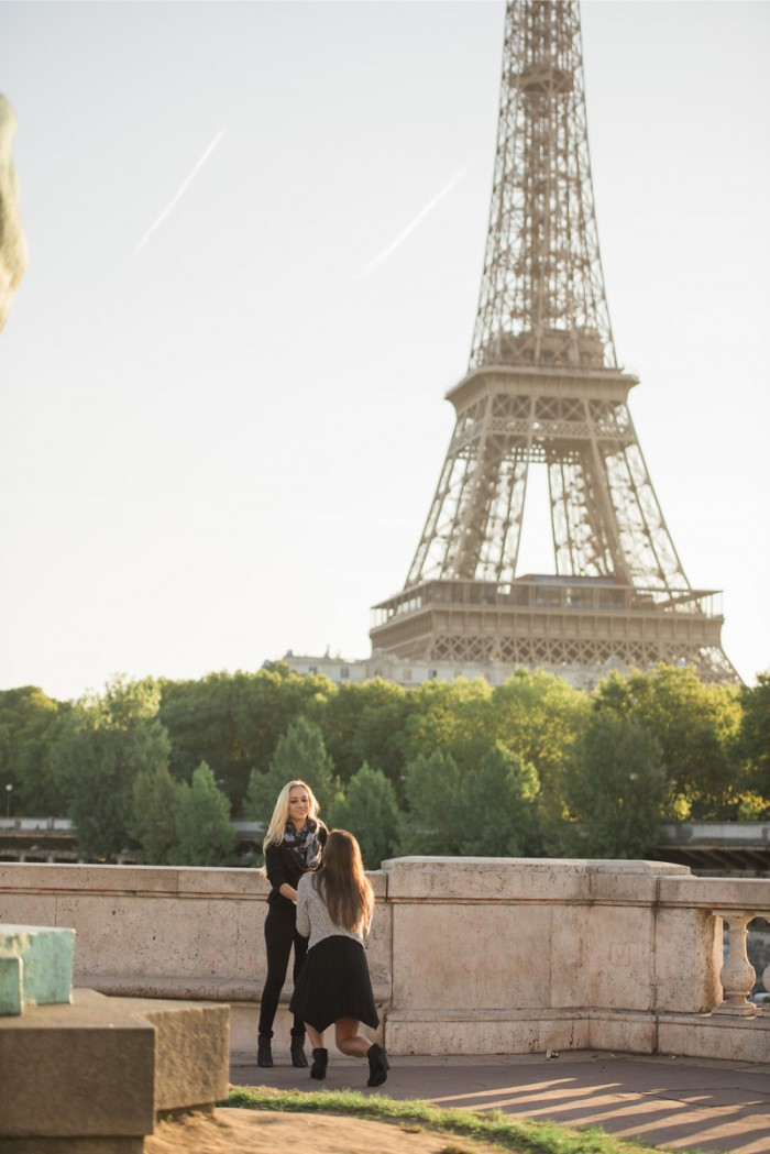 How she asked same sex proposal idea in paris4