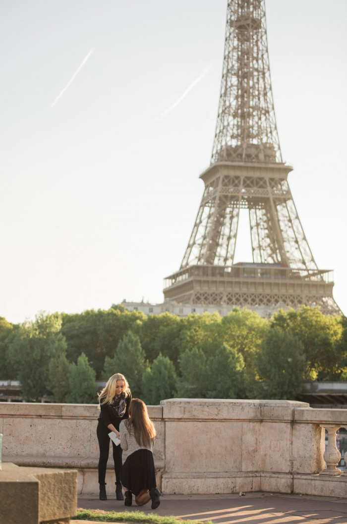 How she asked same sex proposal idea in paris6