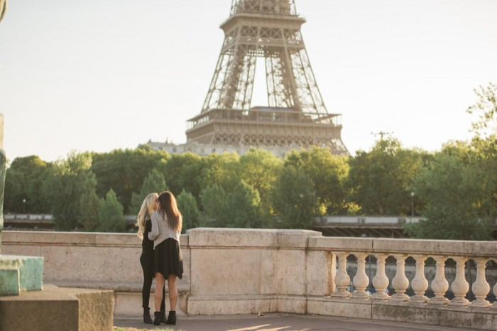 Image 5 of Mikaila and Emily's Parisian Proposal at the Eiffel Tower!