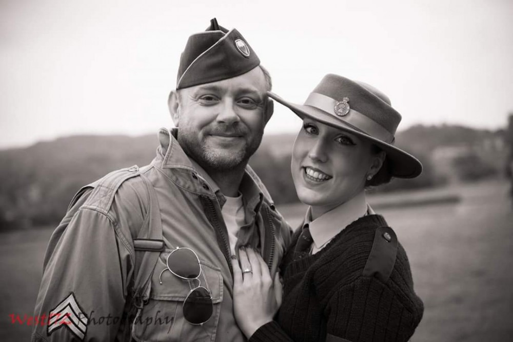 Image 1 of Hettie and Pete's 1940s Proposal