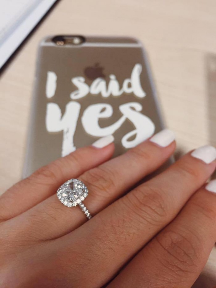 Image 1 of Platinum Proposals: See the Sweetest Proposals from Couples Who Chose Platinum